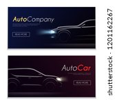 cartrader horizontal banners set | Shutterstock .eps vector #1201162267