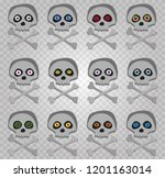 Vector Set Of Cartoon Skeleton...