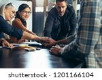 group of business people... | Shutterstock . vector #1201166104