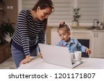 happy family together | Shutterstock . vector #1201171807