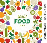 world food day greeting card... | Shutterstock .eps vector #1201175521