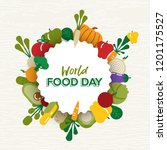 world food day greeting card... | Shutterstock .eps vector #1201175527