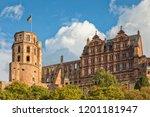 ruins of heidelberg castle on k ... | Shutterstock . vector #1201181947