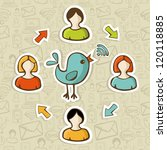 social media networks rss feed... | Shutterstock .eps vector #120118885