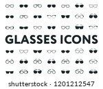 glasses and sunglasses models....   Shutterstock .eps vector #1201212547