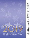 2019 new year s card template ... | Shutterstock .eps vector #1201213147