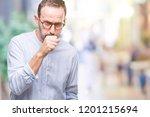 middle age hoary senior man... | Shutterstock . vector #1201215694