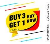 buy 3 get 1 free sale banner... | Shutterstock .eps vector #1201217137