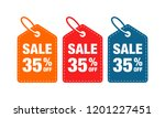35  discount label symbols... | Shutterstock .eps vector #1201227451