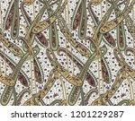 seamless paisley indian motif | Shutterstock . vector #1201229287