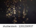 gold abstract bokeh background  ... | Shutterstock . vector #1201230937