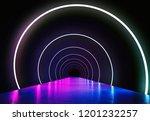 spotlight stage. neon...   Shutterstock . vector #1201232257