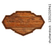 wooden sign boards isolated on... | Shutterstock . vector #1201233961