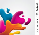 colorful abstract fluid shape... | Shutterstock .eps vector #1201244461