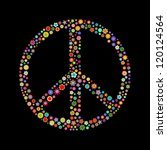 illustration  peace sign  made... | Shutterstock . vector #120124564