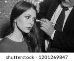 adorable girl or cute woman ...   Shutterstock . vector #1201269847