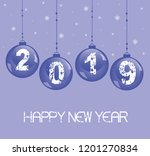 new year 2019 background with... | Shutterstock .eps vector #1201270834