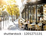 street view on the traditional... | Shutterstock . vector #1201271131