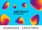 chaotic holographic background. ... | Shutterstock .eps vector #1201273051