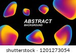 chaotic holographic background. ... | Shutterstock .eps vector #1201273054