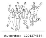 continuous line drawing of... | Shutterstock .eps vector #1201274854