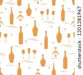 seamless pattern of wine...   Shutterstock .eps vector #1201281967