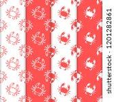 set of 4 vector seamless... | Shutterstock .eps vector #1201282861