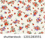 seamless gorgeous bright... | Shutterstock . vector #1201283551