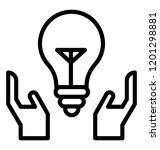 an idea generation line icon... | Shutterstock .eps vector #1201298881