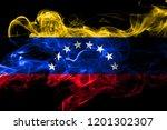 venezuela colorful smoking flag ...   Shutterstock . vector #1201302307