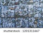 texture of gabion fences  wire... | Shutterstock . vector #1201311667