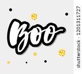 slogan boo phrase graphic...   Shutterstock .eps vector #1201311727