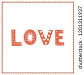 "vector cute ""love"" hand... | Shutterstock .eps vector #1201311937"