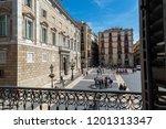 st. james square in barcelona... | Shutterstock . vector #1201313347