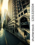 street in chicago with morning... | Shutterstock . vector #1201320334