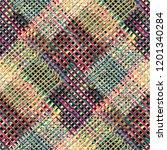 seamless pattern patchwork... | Shutterstock . vector #1201340284