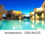 exterior of a luxurious villa... | Shutterstock . vector #120134215