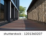 outdoor pavilion walkway.... | Shutterstock . vector #1201360207