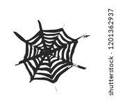 halloween cobweb on white... | Shutterstock .eps vector #1201362937
