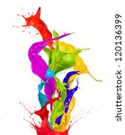 Colored Paint Splashes...
