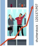 entrepreneur giving an elevator ... | Shutterstock .eps vector #1201371907