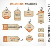 vector stickers  price tag ...   Shutterstock .eps vector #1201374754