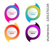 set of abstract colorful logos. ...   Shutterstock .eps vector #1201376134