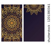 card template with floral... | Shutterstock .eps vector #1201380361