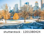 central park in winter  new... | Shutterstock . vector #1201380424