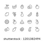 simple set of fruits related... | Shutterstock .eps vector #1201382494