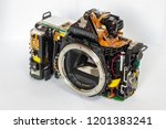 side view of the disassembled... | Shutterstock . vector #1201383241