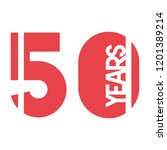 number 50 for anniversary... | Shutterstock .eps vector #1201389214
