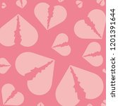 hearts break pattern background | Shutterstock .eps vector #1201391644