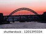 sunset over the quayside of...   Shutterstock . vector #1201395334